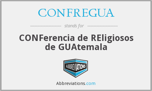 What does CONFREGUA stand for?