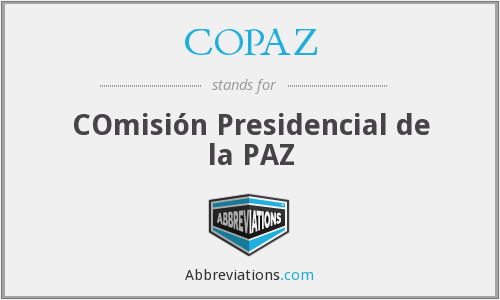 What does COPAZ stand for?