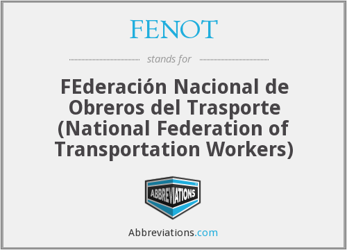 What does FENOT stand for?