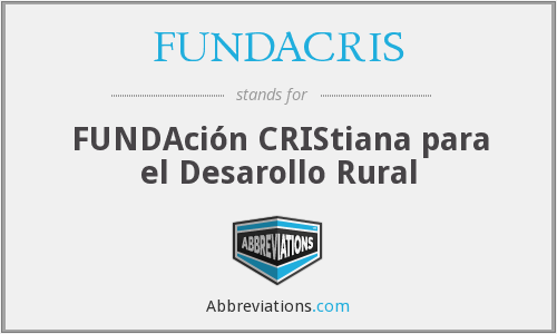What does FUNDACRIS stand for?