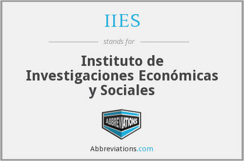What does IIES stand for?