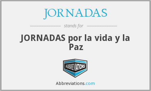 What does JORNADAS stand for?