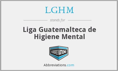 What does LGHM stand for?