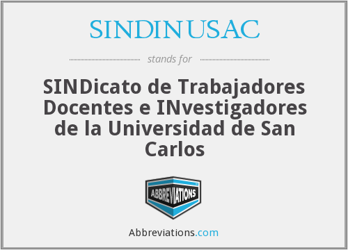 What does SINDINUSAC stand for?