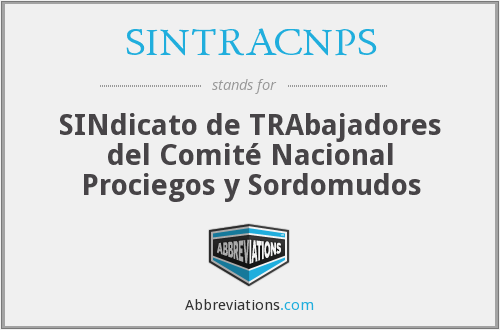 What does SINTRACNPS stand for?