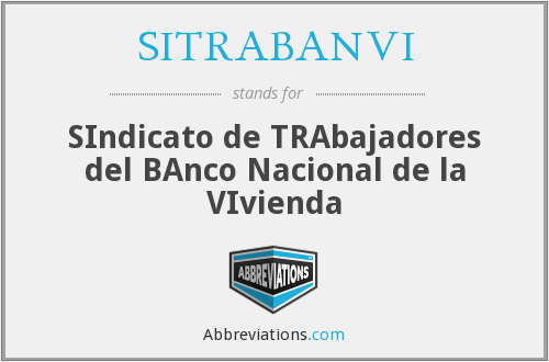 What does SITRABANVI stand for?