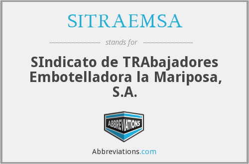 What does SITRAEMSA stand for?