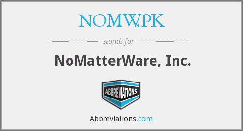 What does NOMW.PK stand for?