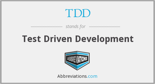 What does TDD stand for?