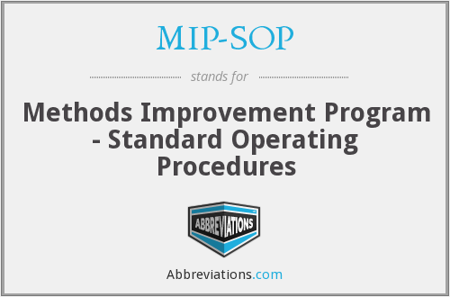 What does MIP-SOP stand for?
