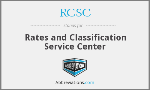 What does RCSC stand for?