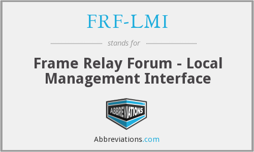 What does FRF-LMI stand for?