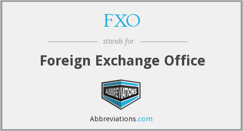 What does FXO stand for?