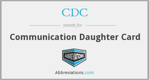 What does CDC stand for?
