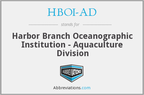 What does HBOI-AD stand for?