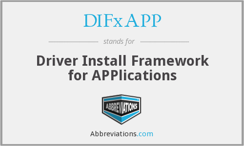 What does DIFXAPP stand for?