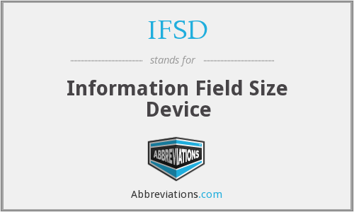 What does IFSD stand for?