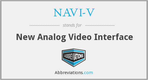 What does NAVI-V stand for?