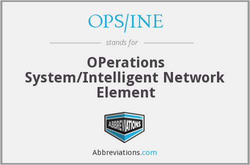 What does OPS/INE stand for?