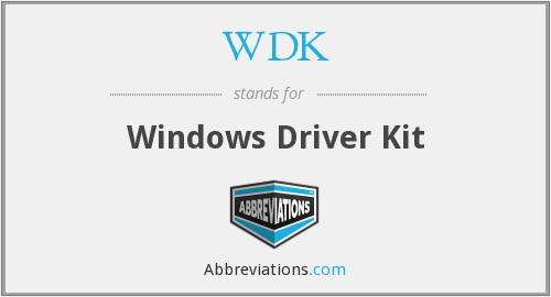 What does WDK stand for?