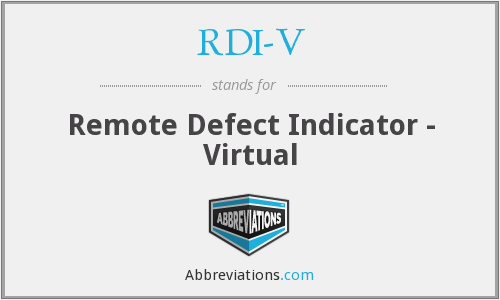 What does RDI-V stand for?