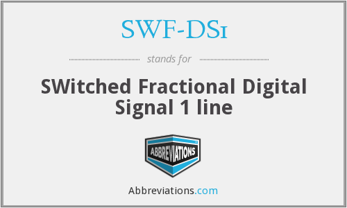 What does SWF-DS1 stand for?