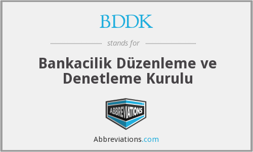What does BDDK stand for?