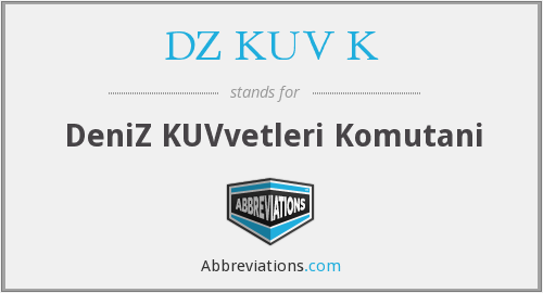 What does DZ. KUV. K stand for?