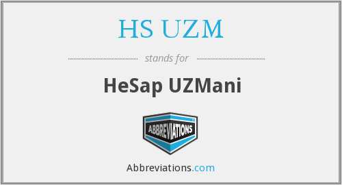 What does HS. UZM. stand for?
