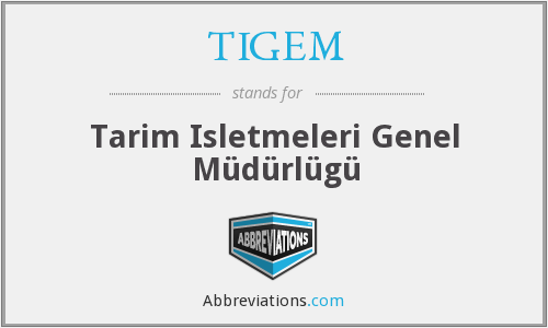 What does TIGEM stand for?