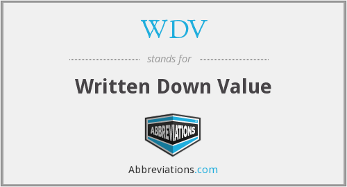 What does WDV stand for?
