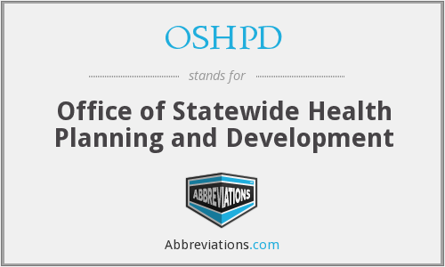 What does OSHPD stand for?