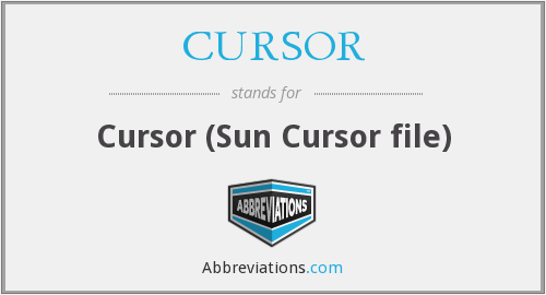 What does CURSOR stand for?