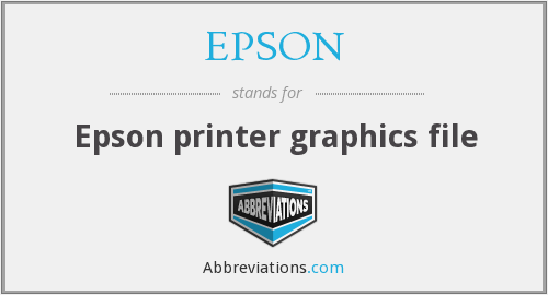 What does EPSON stand for?