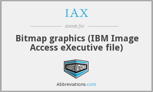 What does IAX stand for?