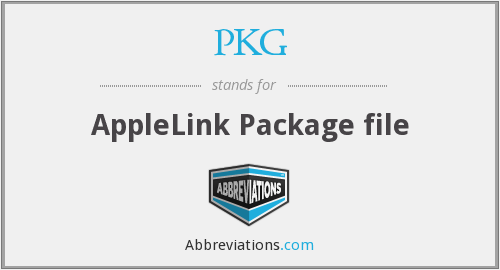 What does PKG stand for?