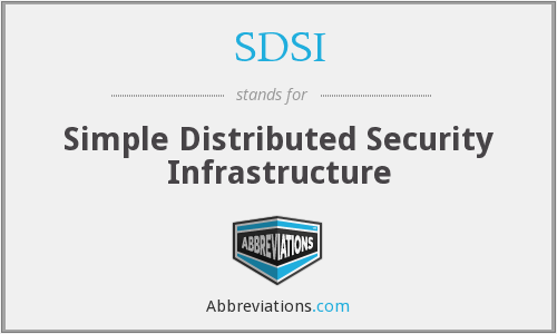 What does SDSI stand for?