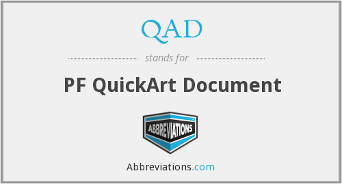 What does QAD stand for?