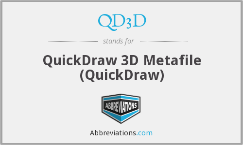 What does QD3D stand for?