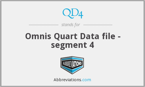 What does QD4 stand for?