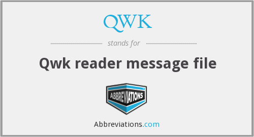 What does QWK stand for?