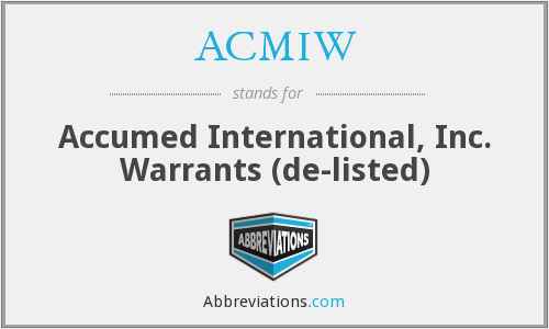 What does ACMIW stand for?