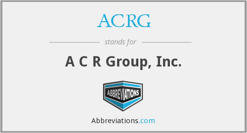 What does ACRG stand for?