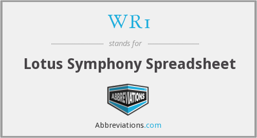 What does WR1 stand for?