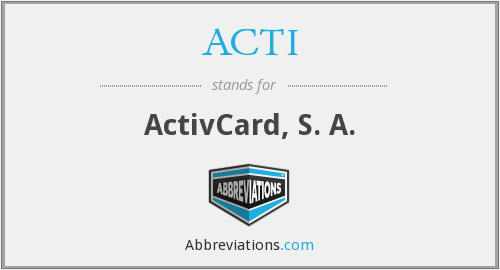 What does ACTI stand for?