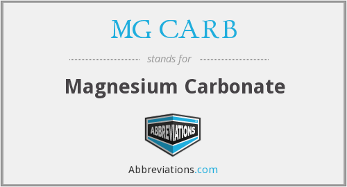 What does MG CARB stand for?