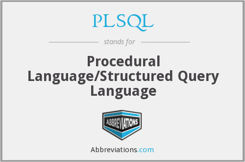 What does PLSQL stand for?
