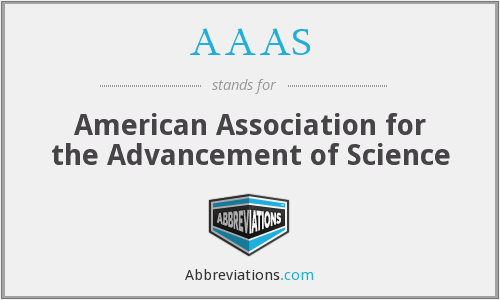 What does AAAS stand for?
