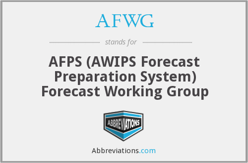 What does AFWG stand for?