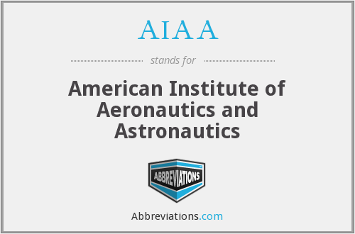 What does AIAA stand for?